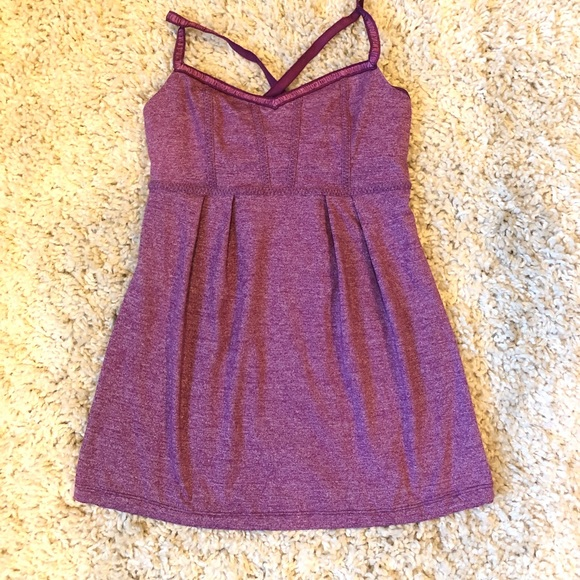 Lululemon Heathered Magenta Tank Top